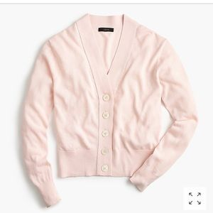 NWT Pale pink cropped JCrew Cardigan